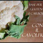 """I lati """"mh"""": base per pizza gluten-free con il cavolfiore."""