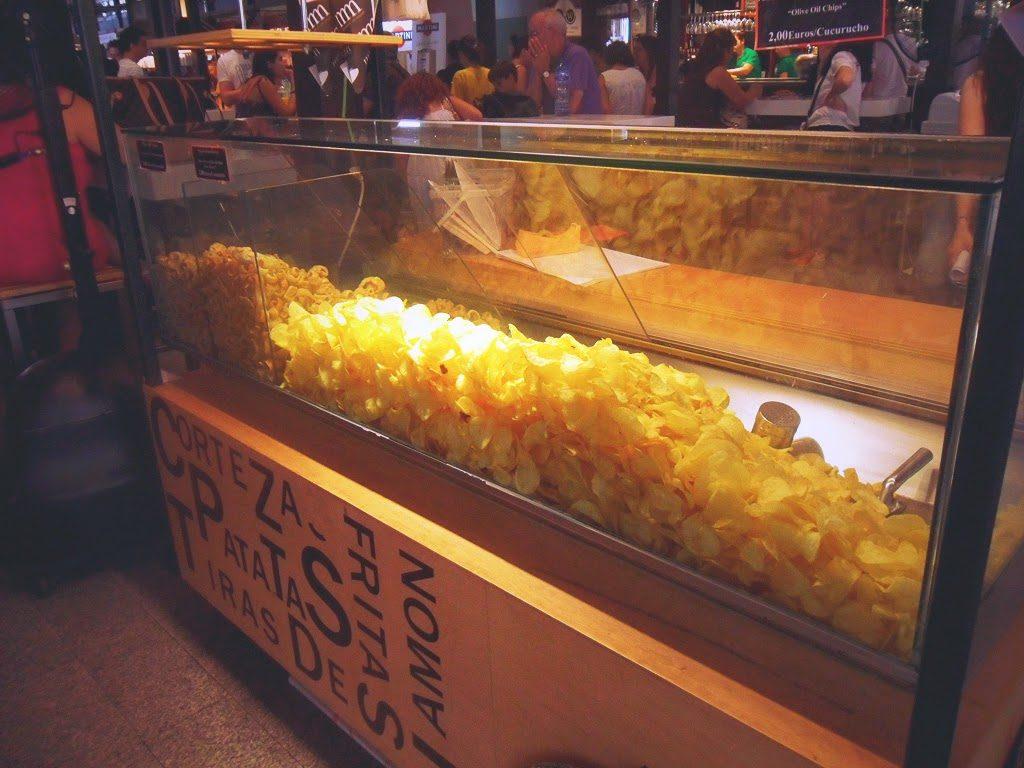 Mercato di San Miguel a Madrid con tapas