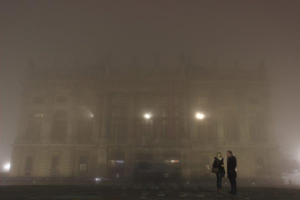 Palazzo Madama Piazza Castello nella nebbia