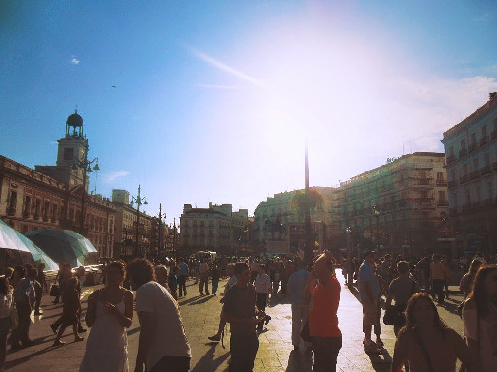 Puerta del Sol, Madrid, Spagna