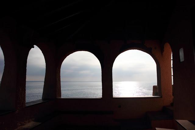 Panorama e scorcio sul mare a Bonassola, Cinque Terre