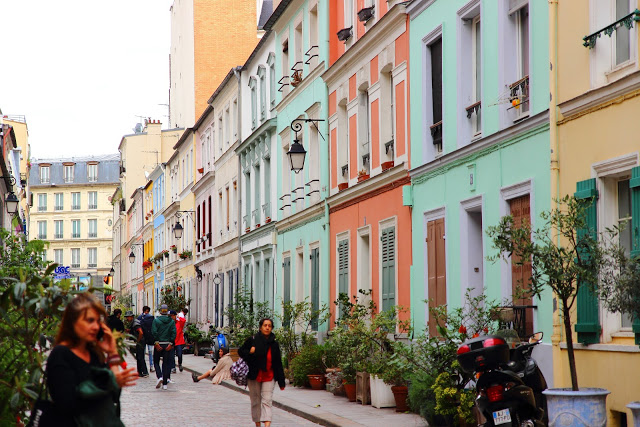 Le case colorate di Rue Cremieux a Parigi