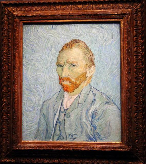 "Quadro ""Autoritratto"" di Van Gogh 1889 al museo d'Orsay di Parigi"