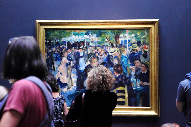 """Quadro """"Bal au Moulin de la Galette"""" di Renoir al Museo d'orsay di Parigi"""