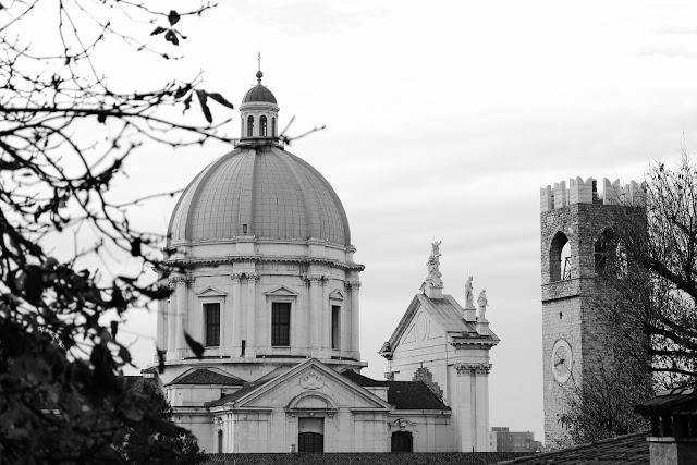 Cupola del Duomo di Brescia vista dalla salita al Castello di Brescia