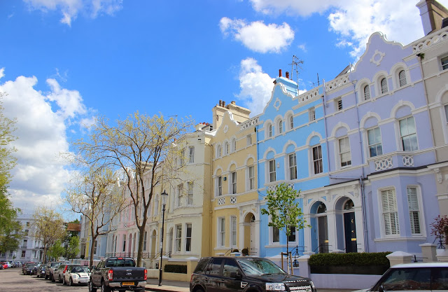 Case colorate di Notting Hill a Londra