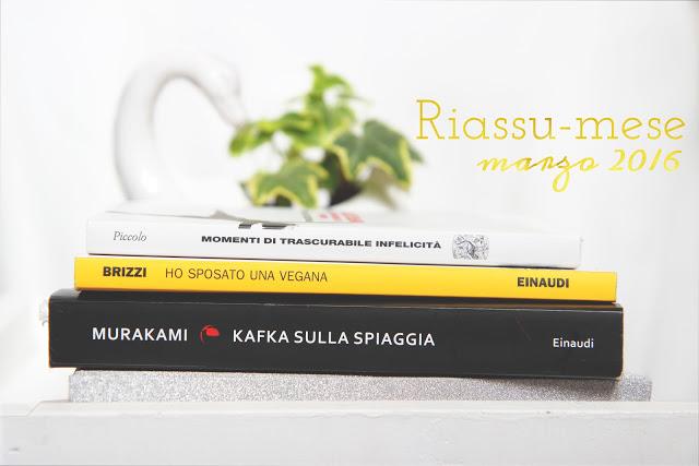 """Recensione """"Kafka sulla spiaggia"""", """"Ho sposato una vegana"""" """"Momenti di trascurabile felicità"""""""