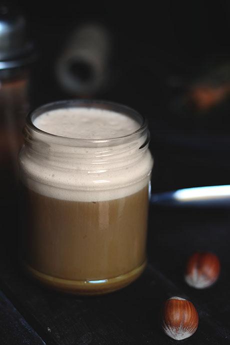 cappuccino alla Nutella e cannella con schiuma perfetta
