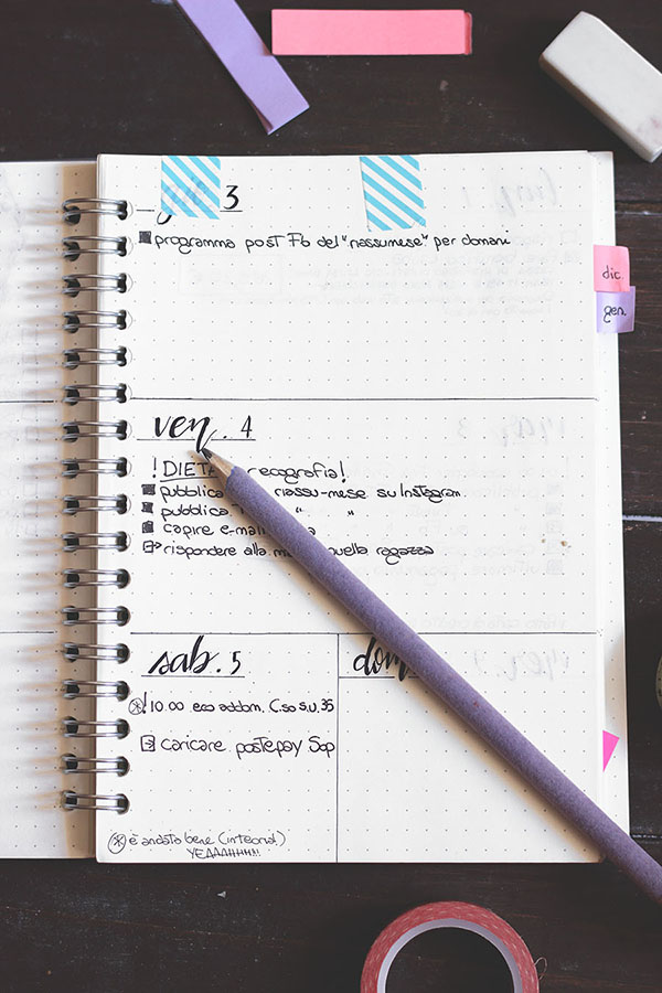 Daily log bullet journal