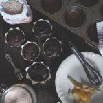 Muffin vegani al cacao e pere.