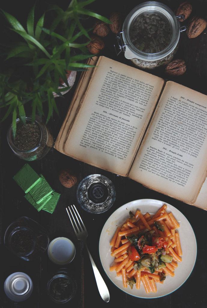 Pasta di lenticchie proteica con verdure