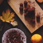 Tartufi velocissimi al cioccolato e arancia