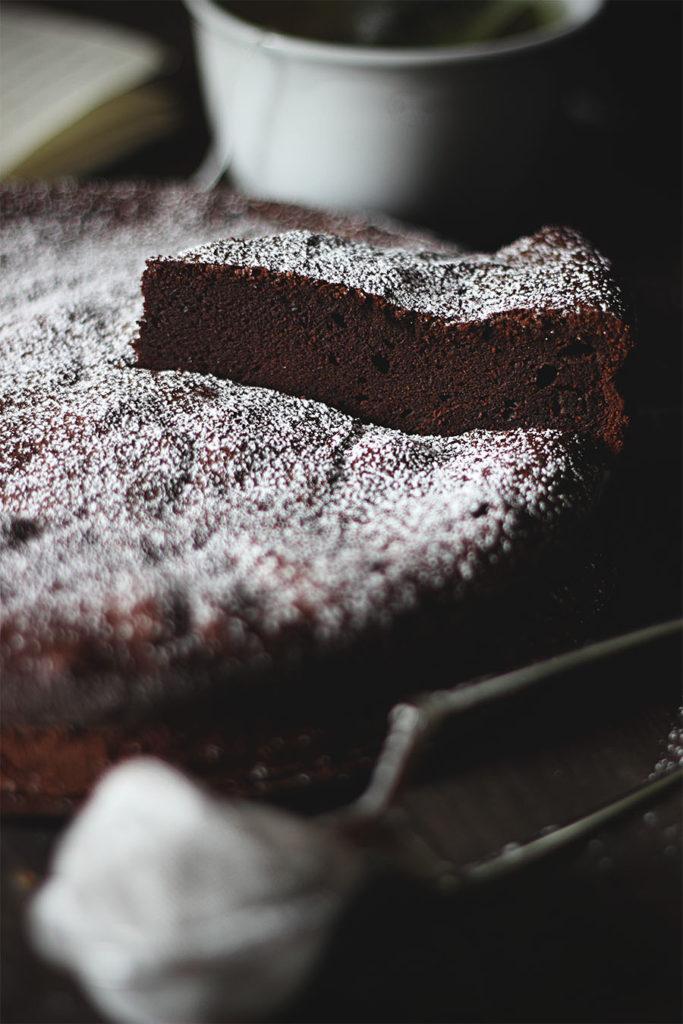 Fetta di moelleux al cioccolato